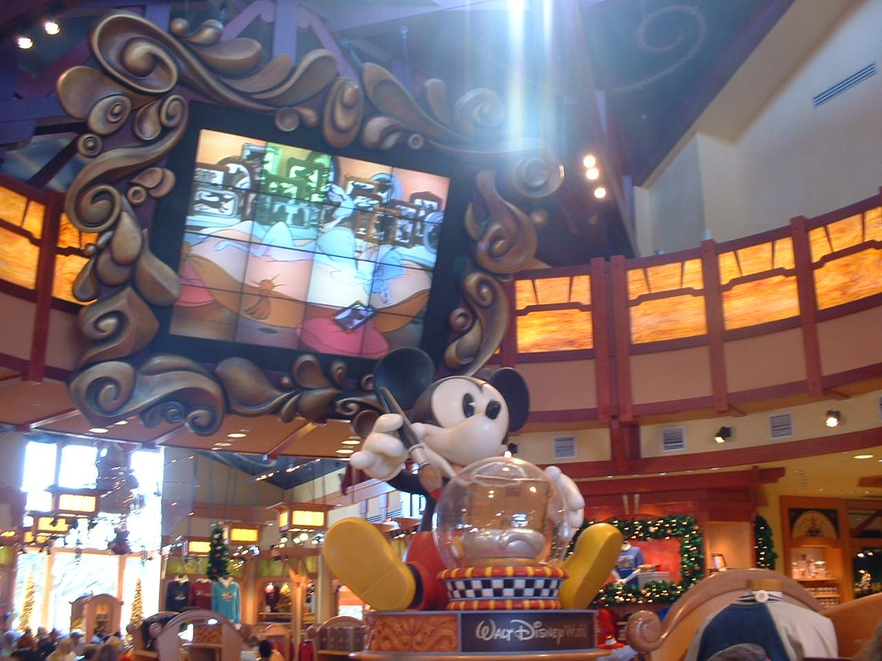 A Disney shop, 2003